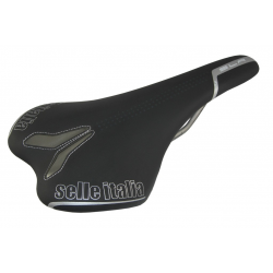 Selle Italia Sella road/offroad SLR TT titanio, pelle nera