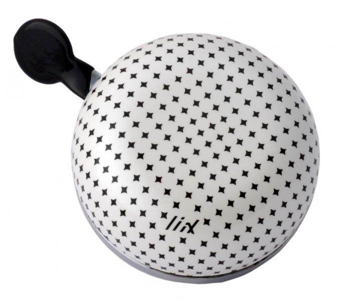 Maxi Ding Dong Bike Bell Diamond Dot White, diametro 8 cm