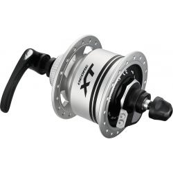 Mozzo adinamo RA Shimano XT DH-T785 100mm, 32 fori argento, Centerlock, 3 W, sgancio rapido