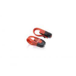 Set mini-proiettori XLC CL-S10 luci di sicurezza, nero/rosso