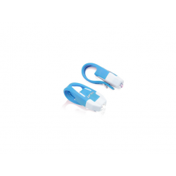 Set mini-proiettori XLC CL-S10 luci di sicurezza, bianco/blu
