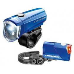 Fanal. a batteria LED Trelock I-Go Sport LS 350/LS 710 Kombi blu con batterie