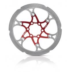 disco ISO freno BR-X59 Ø 160mm rosso/arg. c.anello CNC di friz