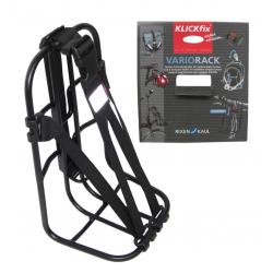Supporto universale Vario-Rack Klickfix con cinghia, nero
