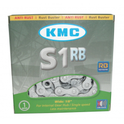 Catena KMC S-1RB antiruggine 1/2 x 1/8, 112 maglie, 8,6 mm, argento