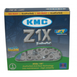 Catena KMC Z1X EPT EcoProteQ Antiruggine 1/2 x 1/8, 112 anelli, 8,6mm, LongLife