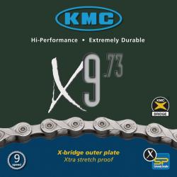 """catena di divisore KMC X-9-73, nonupla 1/2"""" x 11/128"""", 116 anelli, 6,6mm"""