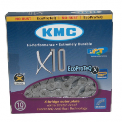 "Catena cambio KMC X-10 EPT antiruggine 1/2"" x 11/128"" 114 maglie 5,88mm 10v."