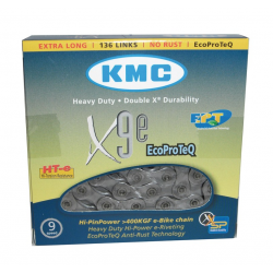"Catena cambio KMC X-9-E EPT antiruggine 1/2"" x 11/128"", 136 maglie, 6,6mm, 9v."