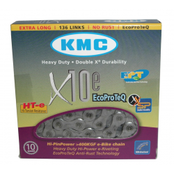 "Catena cambio KMC X-10-E EPT antiruggine 1/2"" x 11/128"" 136 maglie 5,88mm 10v."
