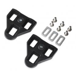 XLC Set di tacchette PD-X03 Compatibili con XLC Pedali Look, 0°, neri