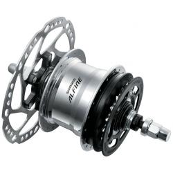 Mozzo 11 velocità Shimano Alfine Disc SGS700AL, argento, 36 fori, senza accessori