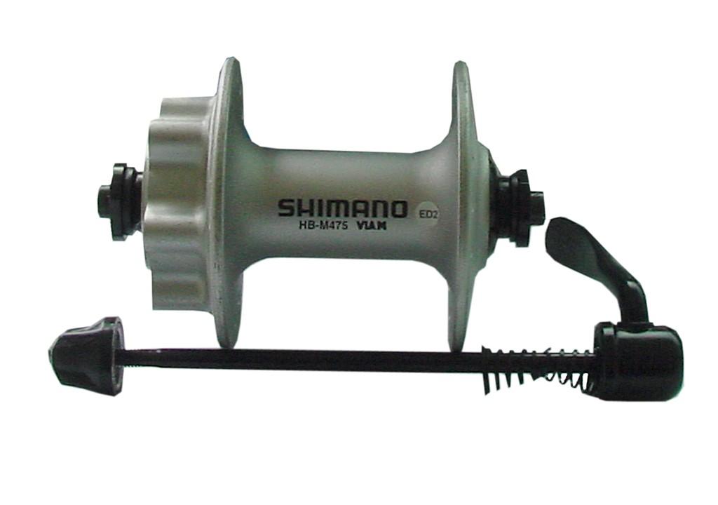 Mozzo freno a disco anteriore HB-M 475 32 fori, colore argento