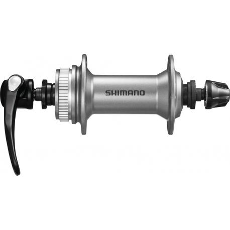 Mozzo Shimano Alivio HB-T 4050 100mm, 32 fori, argento, Centerlock, sgancio rapido