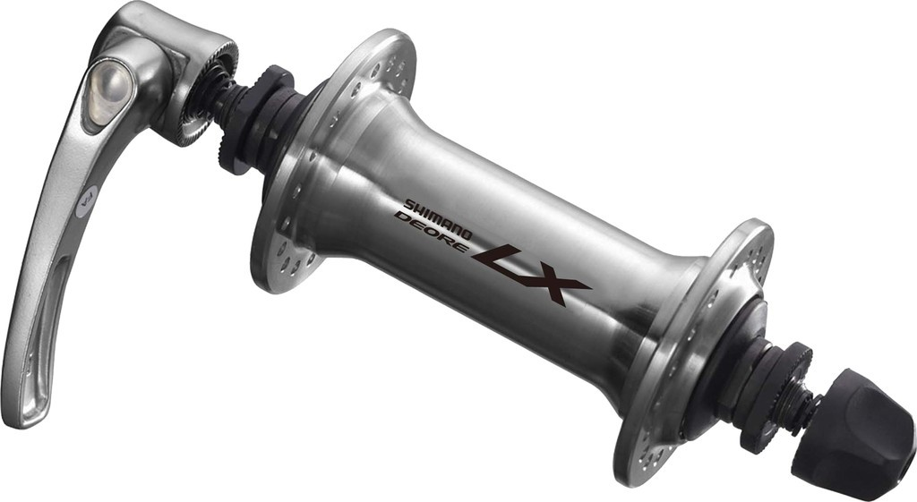 Mozzo anteriore Shimano Deore LX sgancio rapido 100mm HB-T 670, argento, 32 fori