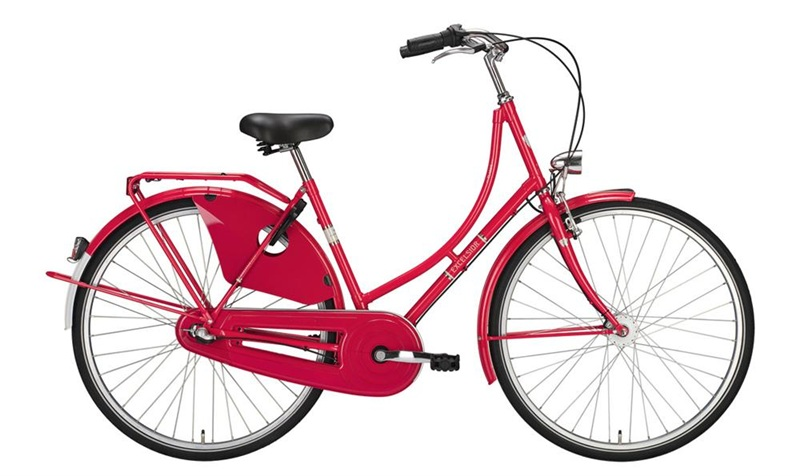 """Bici Olandese 26"""" Excelsior Classic ND 3V Shimano Nexus contropedale, Hibiscus Red"""
