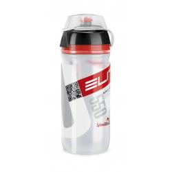 Borraccia Elite Corsa MTB 550ml, bianco, Logo rosso