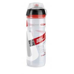 Borraccia Elite Super Corsa MTB 750ml, bianco, Logo rosso