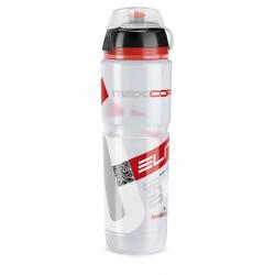 Borraccia Elite Maxi Corsa MTB 950ml, bianco, Logo rosso