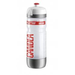 Borraccia termica Elite Candea 650ml, bianco, logo rosso, Micro-LED