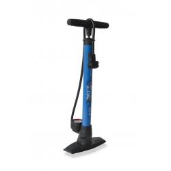 Pompa da pavimento XLC 'Delta' PU-S04 11 bar, doppio cilindro, colore blu