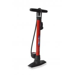 Pompa da pavimento XLC 'Delta' PU-S04 11 bar, doppio cilindro, rosso