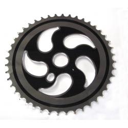 Corona BMX in acciaio, 44 denti, con disco di protezione per la catena