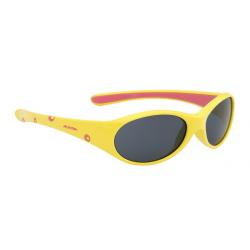 Occhiali da sole Alpina Flexxy Girl, Montatura gialla/rosa, lente nera S3