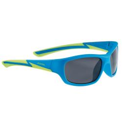 Occhiale da sole Alpina Flexxy Youth Mont blu opaco/lime lente nero S3