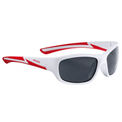Occhiale da sole Alpina Flexxy Youth Mont bianco opaco/rosso lente nero S3
