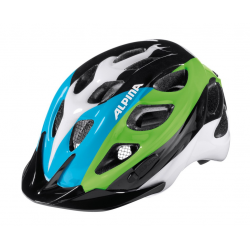 Casco da bici Alpina Rocky Kids nero/blu/verde Tg.52-57cm