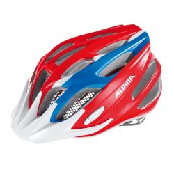 Casco da bici Alpina FB Junior 2.0 rosso/blu/bianco Tg.50-55cm