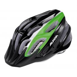 Casco da bici Alpina FB Junior 2.0 Flash nero/verde/bianco Tg.50-55cm