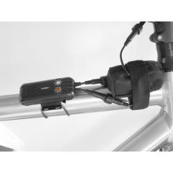 Batteria b&m per caricamento apparecchi mobili, con borsa, fascia velcro e cavo