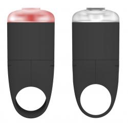 Set illuminazione Reelight EGO colore nero, luce anteriore e posteriore, ricaricabile