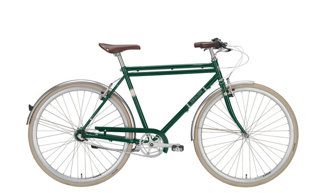 Excelsior Vintage metallic green, city bike uomo 3V