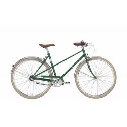 Excelsior Vintage metallic green, city bike donna 3V