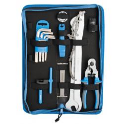 UNIOR set di attrezzi manutenzione/riparazione bicicletta 17 pezzi, art. 1600A6