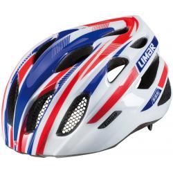 Casco da bici Limar 555 bianco/blu/rosso Tg.L (57-62cm)