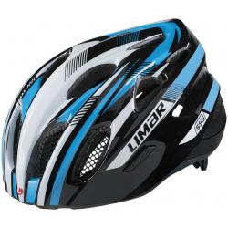 Casco da bici Limar 555 nero/bianco/blu Tg.M (52-57cm)