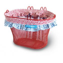 Cestino rta.ant.bambini Jasmin-Farm 26X17X17 cm, rosso, maglia fine