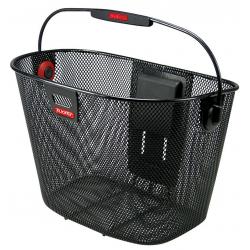 KLICKfix Cestino anteriore Unilux, nero, adattatore al manubrio non incluso