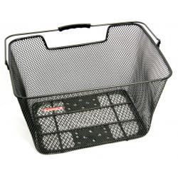 cestino Pletscher nero per r.post. per porta-bagagli fitto, a sistema