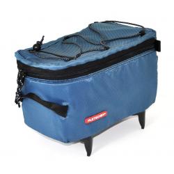 Borsa per portapacchi Pletscher Mini blu, per portapacchi a sistema Pletscher