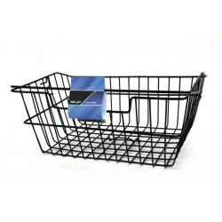 cesta per la spesa a maglie larghe, nero per portabagagli SB Plus