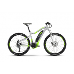 Haibike SDURO HardSeven 4.0 400Wh 9v Acera 17 HB YWE argento/neon verde opaco