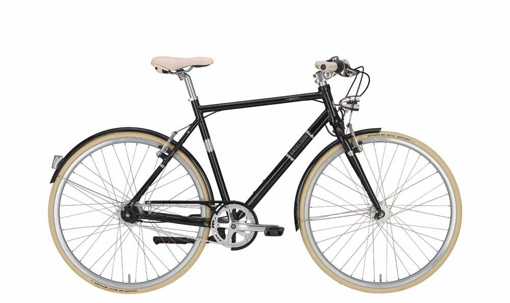 "Contropedale EXCELSIOR bici vintage ""Snazzy"", 8 Velocità Shimano Nexus, Black"