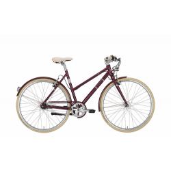 "EXCELSIOR bici vintage donna ""Snazzy"", 8 Velocità Shimano Nexus, Wine"