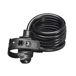 TRELOCK Lucchetto/cavo a spirale SK 22/180/12 180cm, Ø12mm, nero, supporto FIXXGO 3