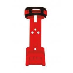 Supporto per lucchetto pieghevole Trelock ZF 234 X-Move, rosso